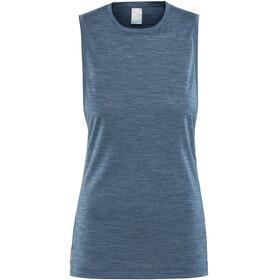 Icebreaker Sphere Koszulka bez rękawów Kobiety niebieski